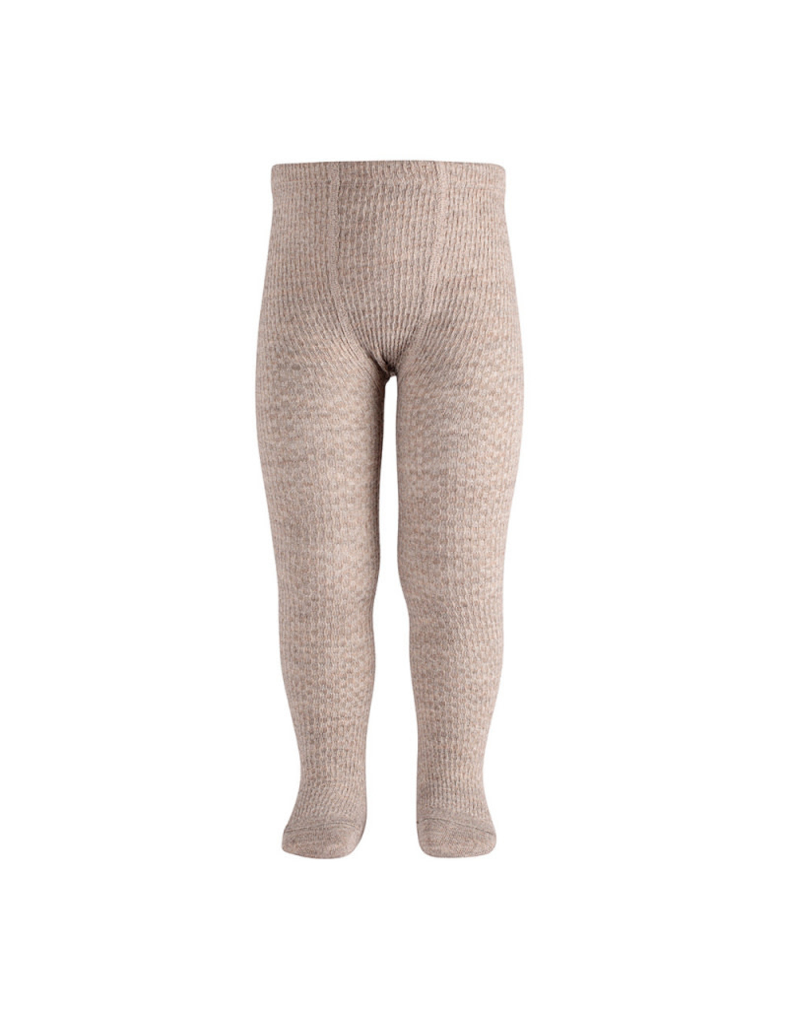 CONDOR Oatmeal Wool Patterned Tights