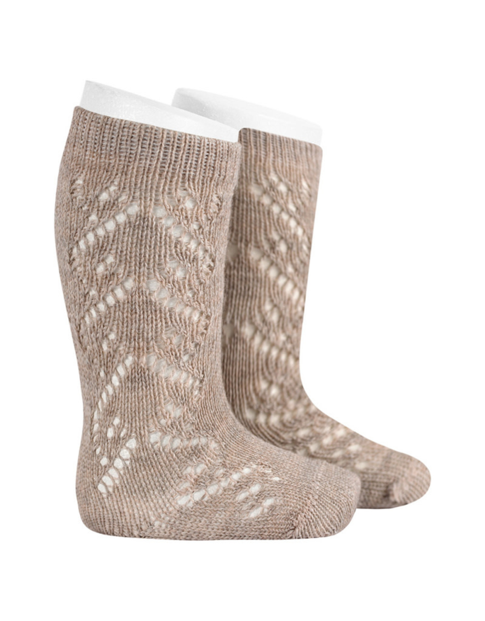 CONDOR Oatmeal Wool Side Openwork Socks