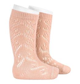 CONDOR Nude Wool Side Openwork Socks
