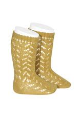 CONDOR Mustard Warm Openwork Socks