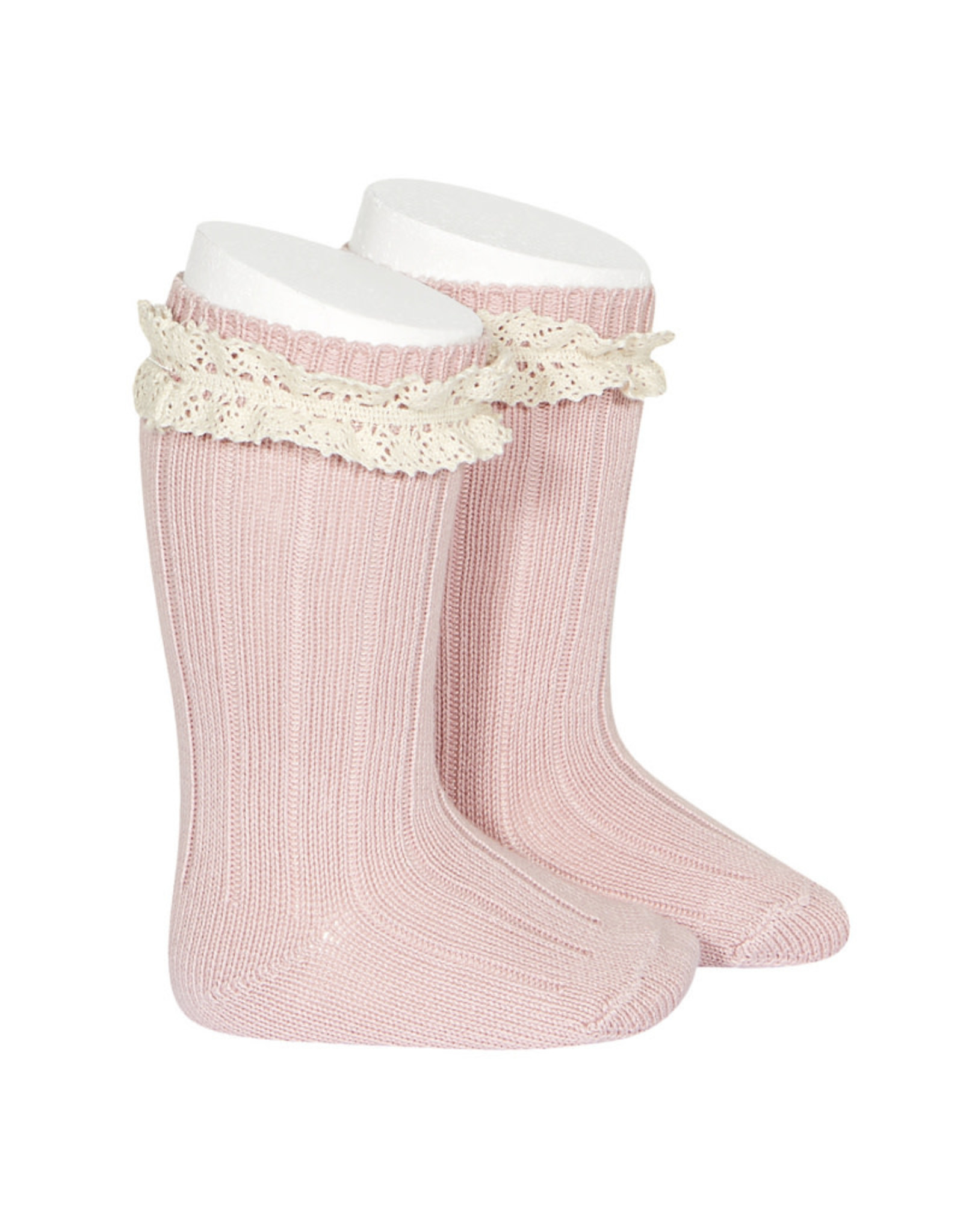 CONDOR Pale Pink Vintage Lace Socks
