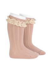 CONDOR Old Rose Vintage Lace Socks