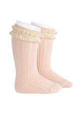 CONDOR Nude Vintage Lace Socks