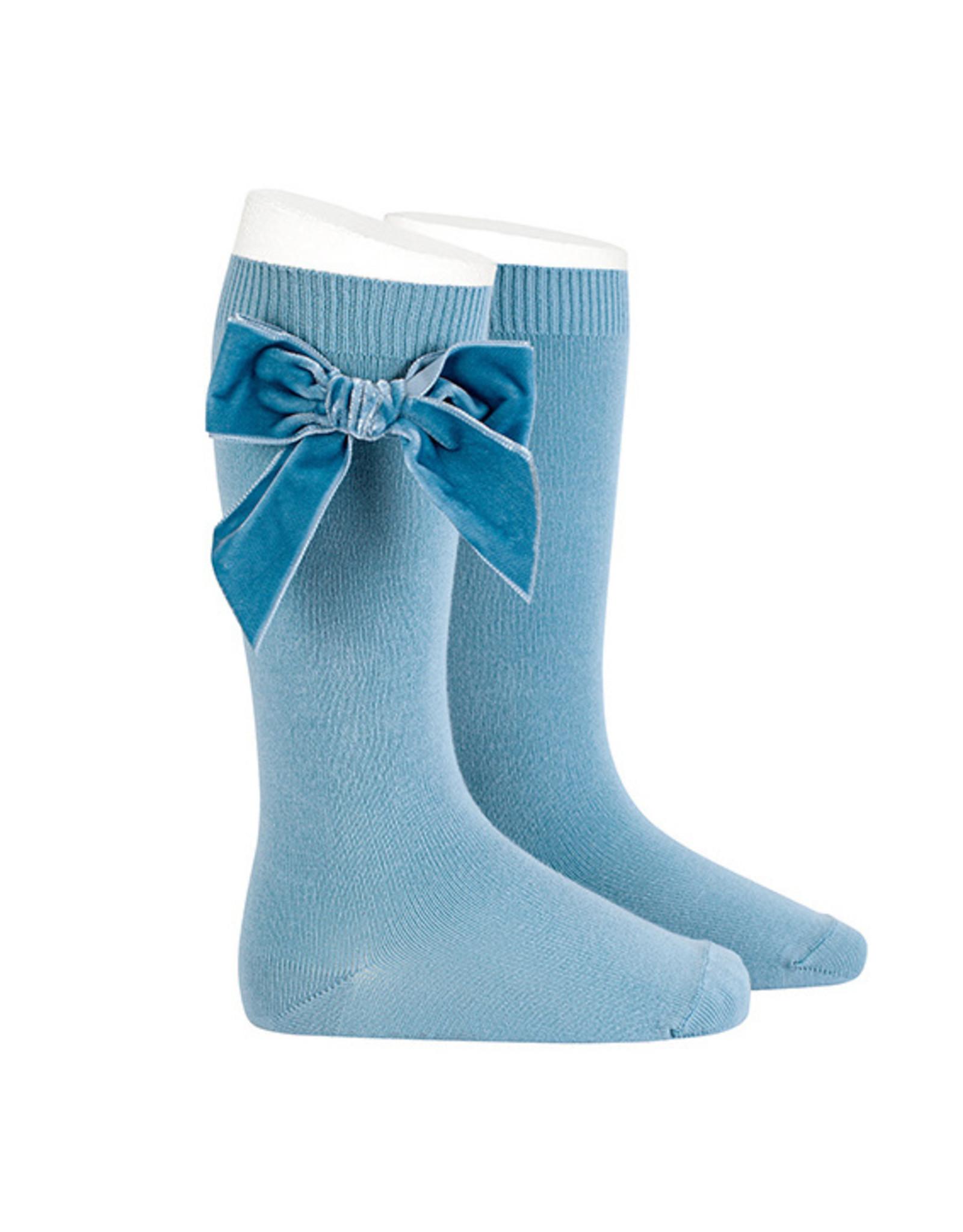 CONDOR Cloud Velvet Bow Socks