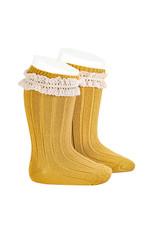 CONDOR Mustard Vintage Lace Socks