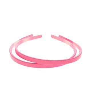 Pink plastic Diadem width 8 mm. per piece