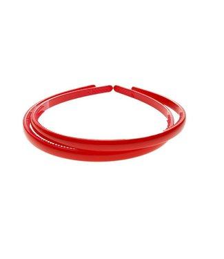 Red plastic Diadem width 8 mm. per piece