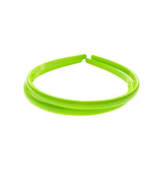 Lime Groene kunststof Diadeem breedte 8 mm. per stuk