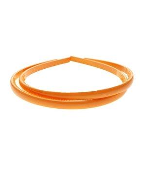 Pastel Oranje kunststof Diadeem breedte 8 mm. per stuk