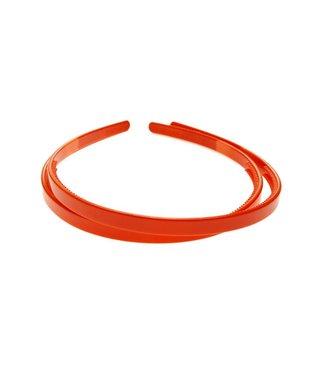 Oranje kunststof Diadeem breedte 8 mm. per stuk