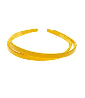 Gele kunststof Diadeem breedte 8 mm. per stuk