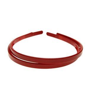 Dark Red plastic Diadem width 8 mm. per piece