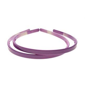 Lavender plastic Diadem width 8 mm. per piece