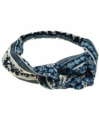 Hairband blue with print