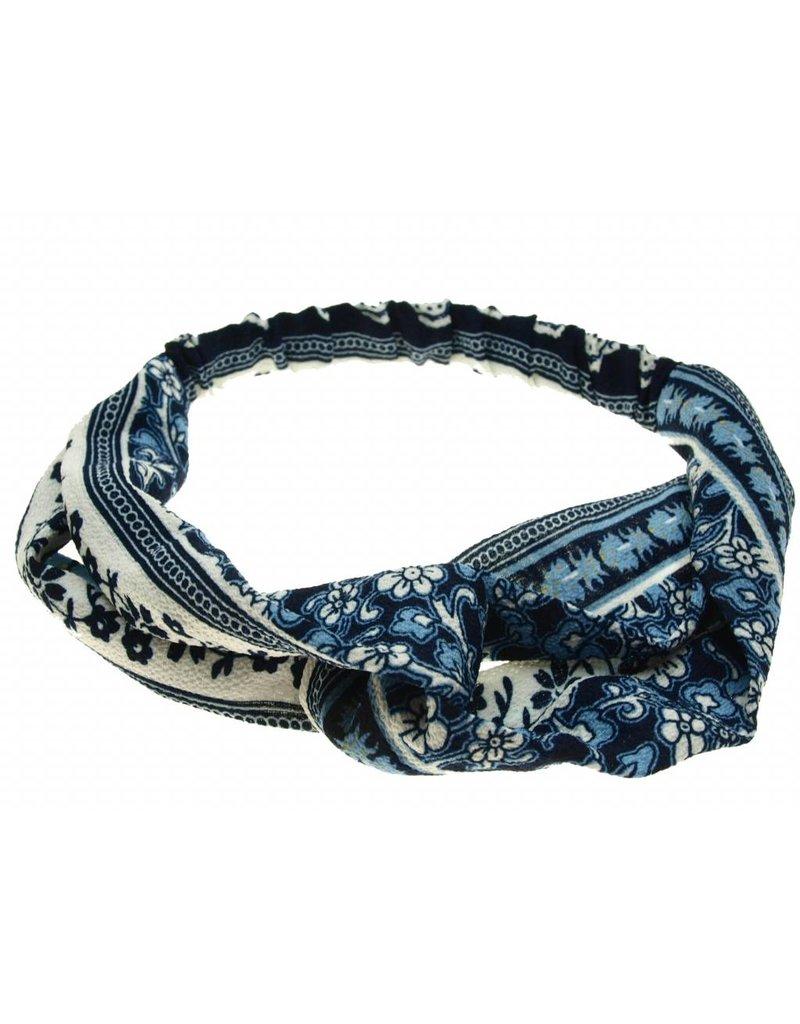 Haarband blauw met print