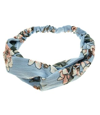 Hairband blue with floral print