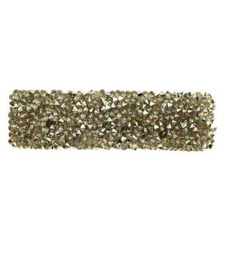 Klik klak haarspeld met strass zilverkleur 8 cm. per stuk