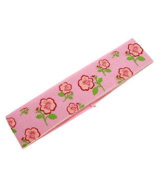 Kids Haarband roze met bloemenprint