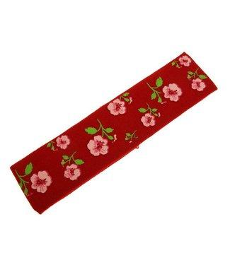 Kids Haarband rood met bloemenprint