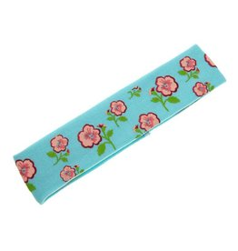Kids Hairband blue  with flower print