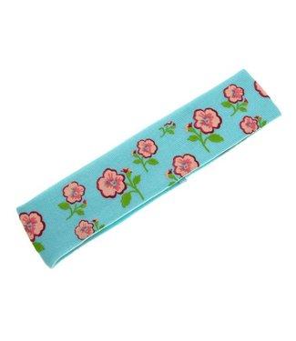 Kids Haarband blauw met bloemenprint