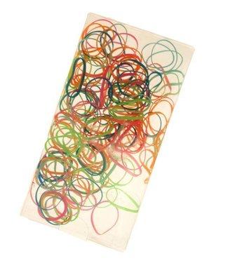 Mini elastic bands bright colors approximately 150 pieces