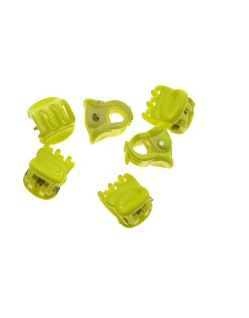 Hair clamp Bright Yellow 1 cm. 10 pieces