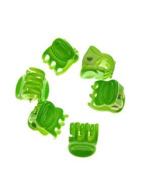 Haarklem Bright Green 1 cm. 10 stuks