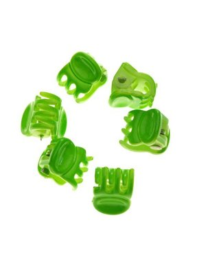Hair clamp Bright Green 1 cm. 10 pieces