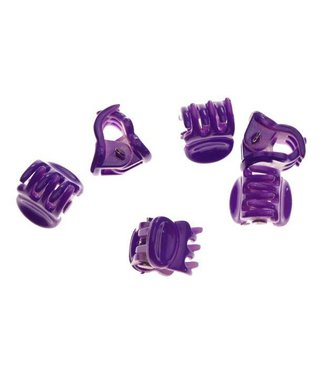 Hair clamp Bright Purple 1 cm. 10 pieces