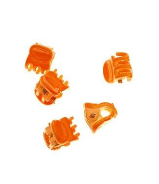 Hair clamp Bright Orange 1 cm. 10 pieces
