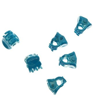 Hair clamp Bright  Blue 1 cm. 10 pieces