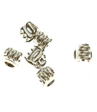 Haarklem Zilver 1 cm. 10 stuks