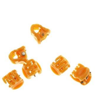 Haarklem Pastel Orange 1 cm. 10 stuks
