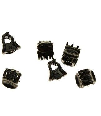 Hair clamp Black 1 cm. 10 pieces