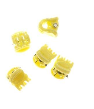Haarklem Pastel Yellow 1 cm. 10 stuks