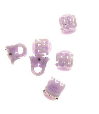 Haarklem Pastel Violet 1 cm. 10 stuks