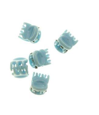 Hair clamp Pastel Blue 1 cm. 10 pieces