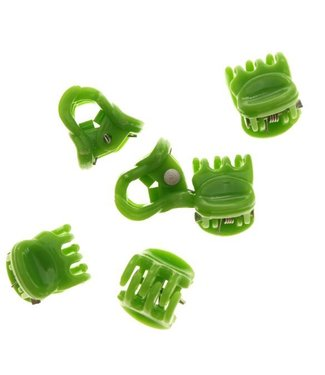 Hair clamp Pastel Green 1 cm. 10 pieces