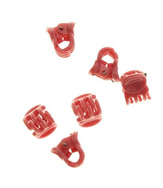 Hair clamp Pastel Pink 1 cm. 10 pieces