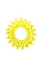 Transparant spiraal elastiek - Lemon - 3 stuks