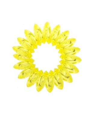 Transparent spiral elastic - Lemon - 3 pieces