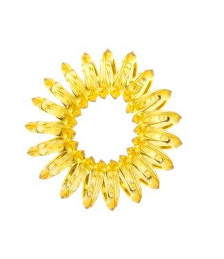 Transparent spiral elastic  - Topaz - 3 pieces