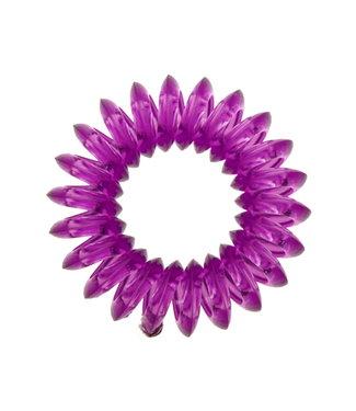 Transparent spiral elastic - Amethyst - 3 pieces