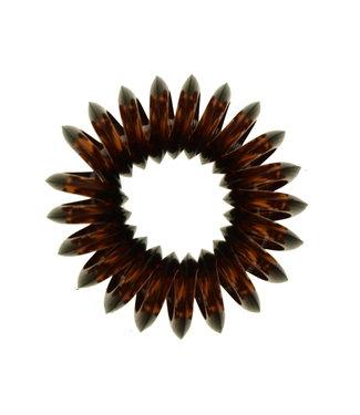 Transparant spiraal elastiek - Dark Chocolate - 3 stuks