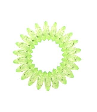 Transparant spiraal elastiek - Lime - 3 stuks