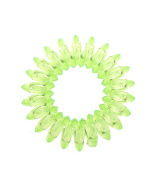 Transparent spiral elastic - Lime - 3 pieces