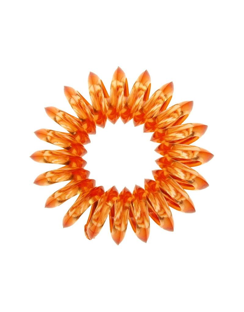 Transparant spiraal elastiek - Mango - 3 stuks