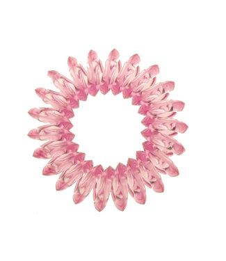 Transparent spiral elastic - Petunia - 3 pieces
