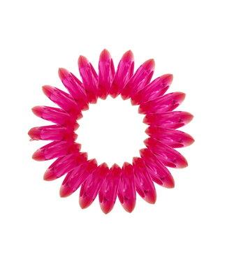 Transparent spiral elastic - Pitaya - 3 pieces